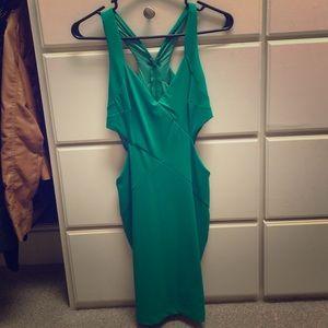 Bebe cut out slim dress