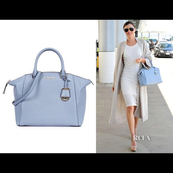 daba207d78 Pale blue Michael kors Riley bag. M 564e95e77fab3a045200bebf