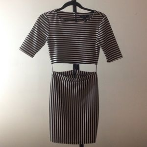 Forever 21 Dresses - Two Piece Stripped Dress