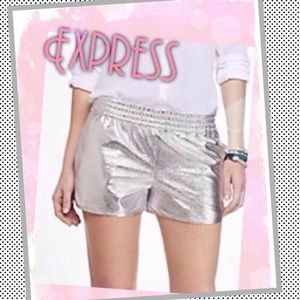 Express Pants - 🆕Express Silver Foil Gym Shorts