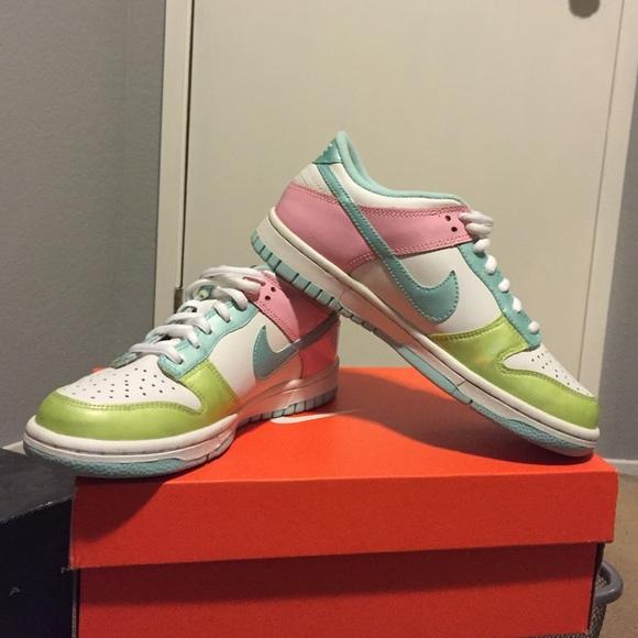 Pastel Nike dunk low rise. Youth 3.5, EU 3.5.