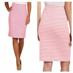 Lilly Pulitzer Bright Pink Striped Skirt Sz XS