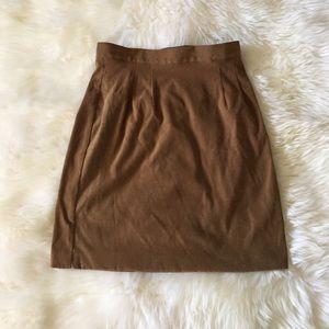 Camel color midi skirt