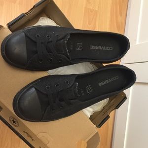 8d5287f543e045 Converse Shoes - Converse Black Black Dance Lace Mono 8.5 UK 6