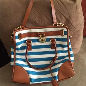 8b71e574c5be2a Michael Kors Bags - Michael Kors blue and white striped purse
