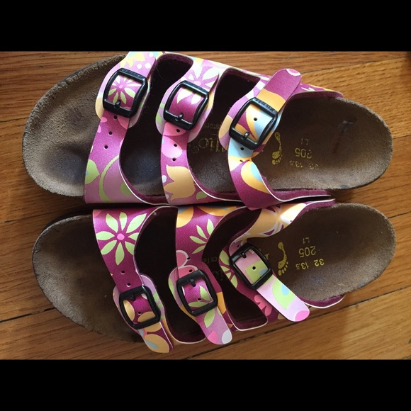birkenstock purple sandal girls