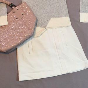 Zara Dresses & Skirts - Zara Basic cream winter mini skirt