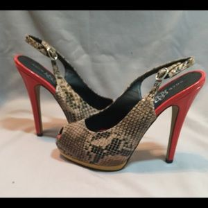 Rock & Republic peep toe sling back shoe SALE!