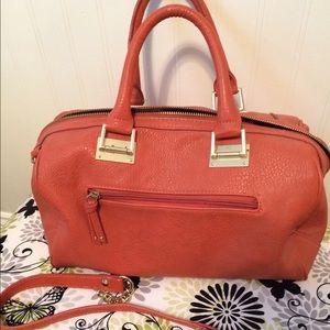 Olivia and Joy pumpkin/gold tone zipper accent bag