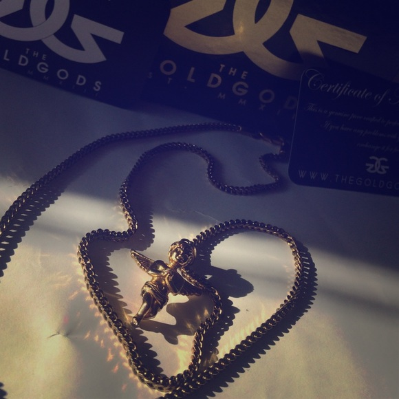 449f8b4fe6b18 The Gold Gods Micro Angel Gold Necklace