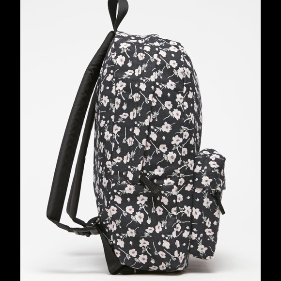 Furgonetas Mochila Negro Con Flores s2gTbJUfF