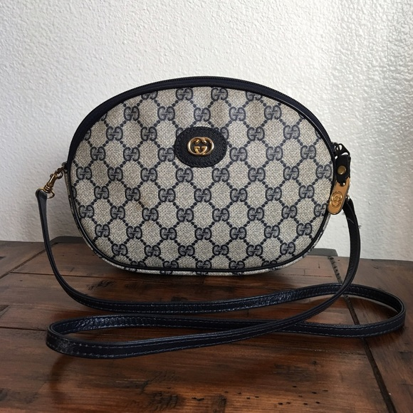 f2ca27dbf7a0 Gucci Bags | Authentic Vintage Blue Small Crossbody Bag | Poshmark