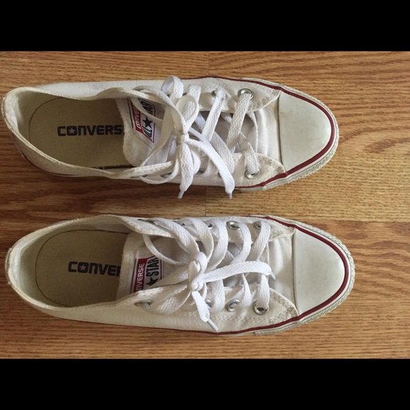 633babc180aa Converse Shoes - Converse all star white sneakers size 6 (women)