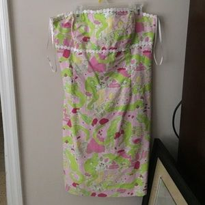 Lily Pulitzer strapless gator dress