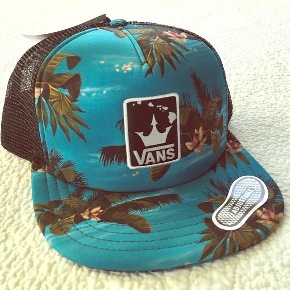 eb6279de98dcf Vans Accessories | Tropical Hawaiian Surf Trucker Surfer Hat | Poshmark