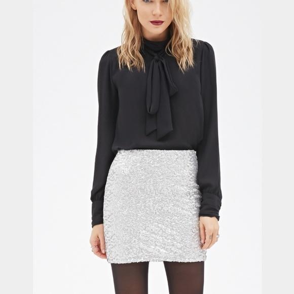 c0f35c3f87 Forever 21 Skirts | Contemporary Sequined Mini Skirt | Poshmark