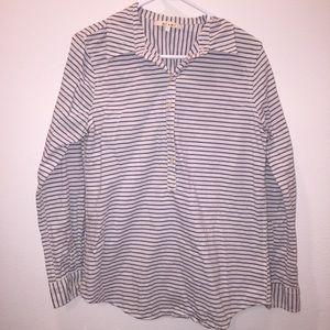 Striped Half button up shirt
