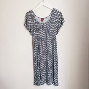 Midi Casual diamond pattern dress