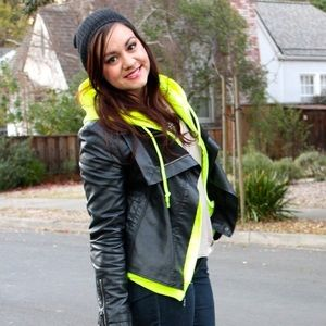 Gildan Sweaters - Neon Yellow Zip Up Hoodie