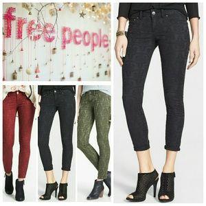 Free People Vintage Print Skinnies