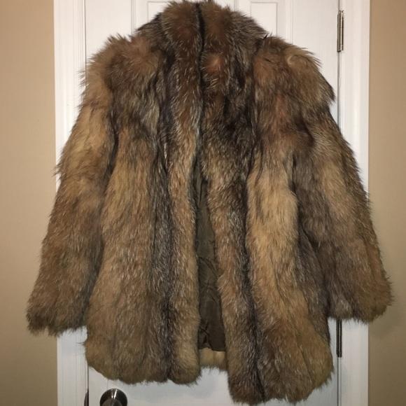 Wolf Fur Coat >> Chloe Jackets Coats Vintage Wolf Fur Coat Size Large From 1984