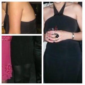 Short Black Halter Dress