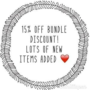 15% off two or more items!
