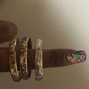 Jewelry - Gently Worn Trio of Baby Bangles