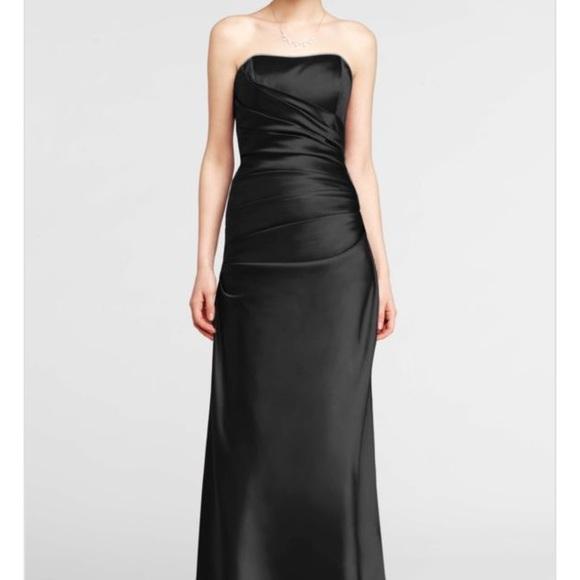 25494f48e David's Bridal Dresses | Davids Bridal Black Formal Dress F13974 ...