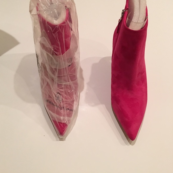 Sam Edelman Shoes - Hot Pink Suede Sam Edelman Booties