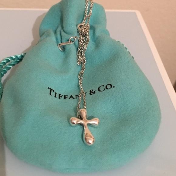 Tiffany Co Jewelry Tiffany Co Elsa Peretti Cross Pendant Poshmark