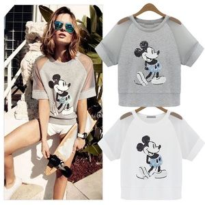 Tops - Mickey Mouse Sequin Top