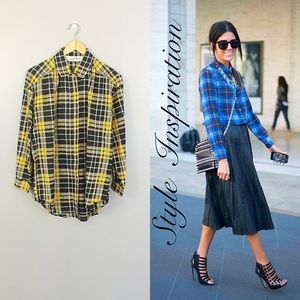 DVF Vintage Plaid Blouse