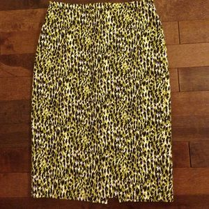 J. Crew Dresses & Skirts - J Crew Long No 2 Pencil Skirt in Abstract Leopard