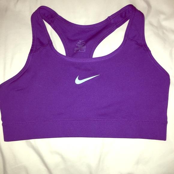 e98a0ede Dark Purple & Mint Nike Dri-Fit Sports Bra