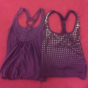 Tops - Dark purple tank tops!!