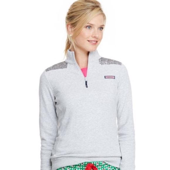 b6ed265deefca8 Vineyard Vines Sweaters | Grey Sequin Womens Shep Shirt | Poshmark