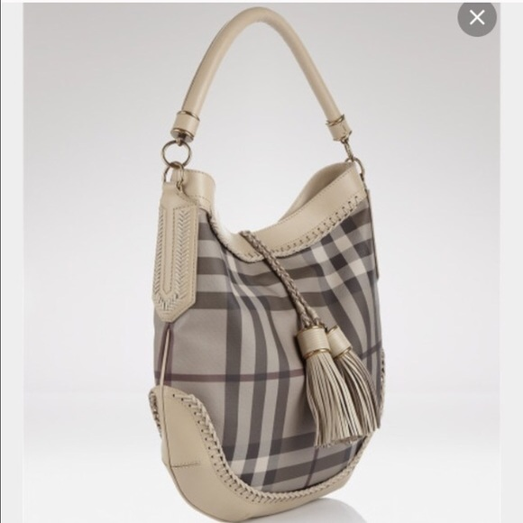 355dc429457 Burberry Bags   Tassel Smoked Checked Hobo   Poshmark