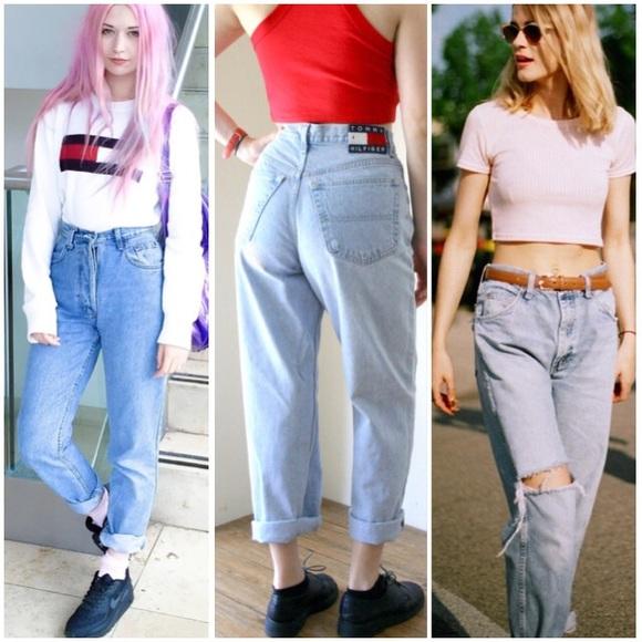 4e053458 Vintage Tommy Hilfiger High-Waisted Jeans. M_564aa3026e3ec25e53021f1f