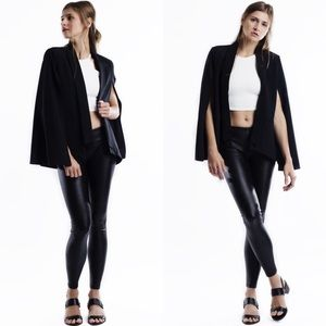 "Bare Anthology Jackets & Blazers - ""The Wait"" Black Cape Blazer"