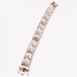 Eddie Borgo Pyramid Rose Gold Bracelet