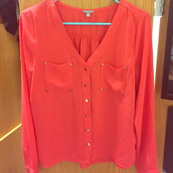 Charlotte Russe Tops Red Dressy Blouse Poshmark
