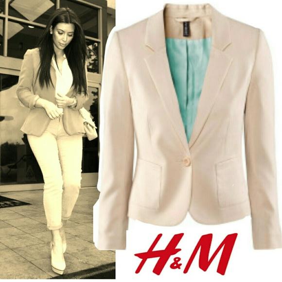 H&M Nude /Cream blazer
