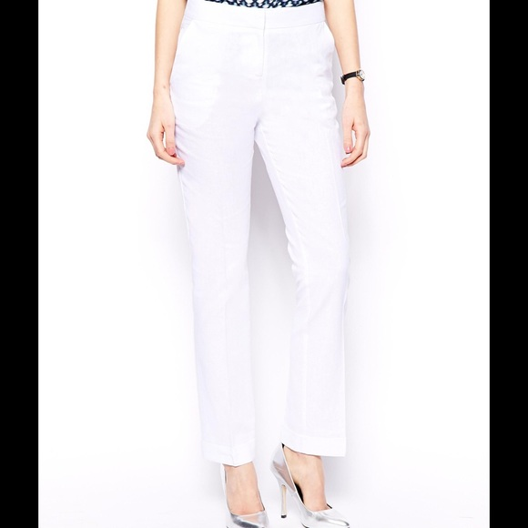 ASOS - White Linen Pants Tall from ! crystal's closet on Poshmark