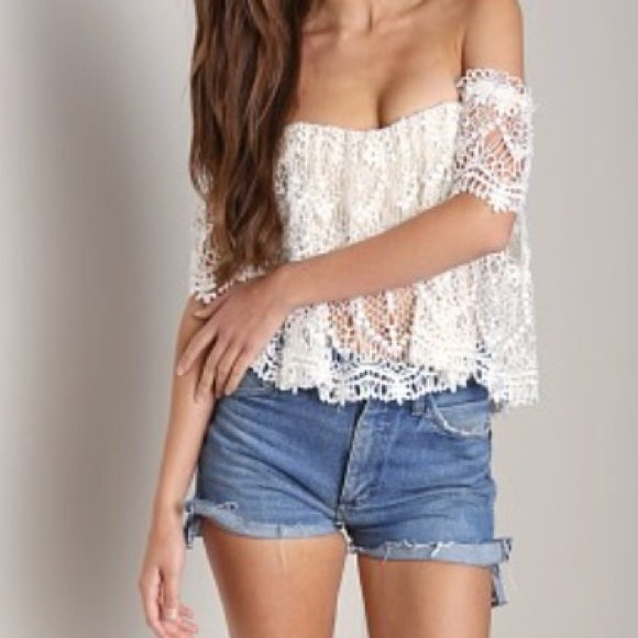 7833cd0b64b Stone Cold Fox Holly Tube Top in Moroccan Ivory