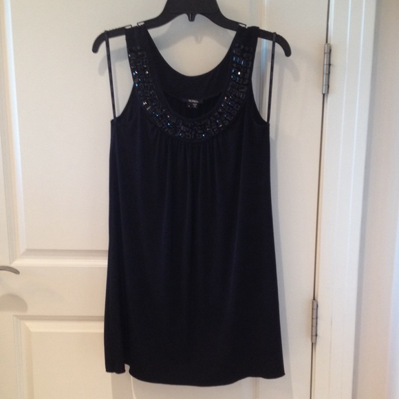 black xoxo beaded a frame dress