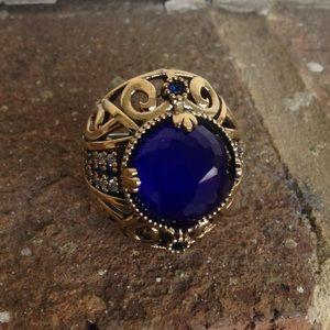 Jewelry - VINTAGE SAPPHIRE WHITE TOPAZ RING