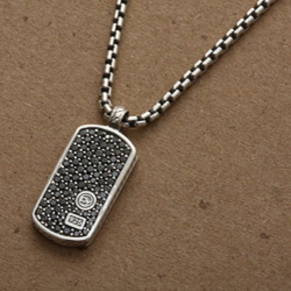 David yurman jewelry david yurman black diamond pave tag for David yurman like bracelets