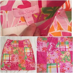 Lilly Pulitzer Dresses & Skirts - Pink Floral Patchwork Lily Pulitzer Skirt