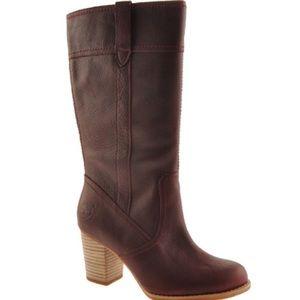 timberland high heels boots